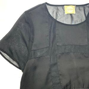 Alythea Sheer and Silk Medium Blouse
